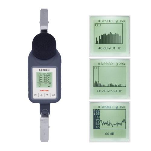 Dosimetro Ruido Com Filtro de 1/1 e 1/3 de Oitavas - Mod. Sonus-2 Plus