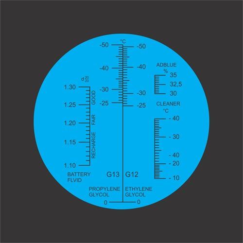 Refratômetro Portátil 5 EM 1 (% DE UREIA, ETILENOGLICOL, PROPILENOGLICOL, FUIDO LIMPEZA E FLUIDO BATERIA) MOD. SBC-10