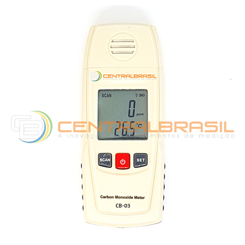 CB-03 Medidor de Monóxido de carbono (CO) e Temperatura
