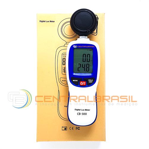 CB-300 LuxÍmetro e Temperatura com memória de armazenamento