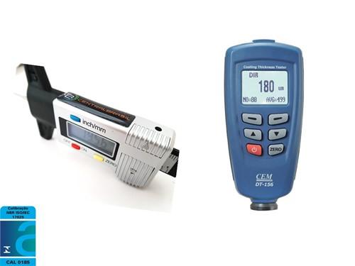 kIt para vistoria Paquímetro Digital Profundímetro  (Sulcos de Pneu) + Medidor de Espessura + CERTIFICADO RBC (ATENDE PORTARIA DETRAN SP Nº 68)