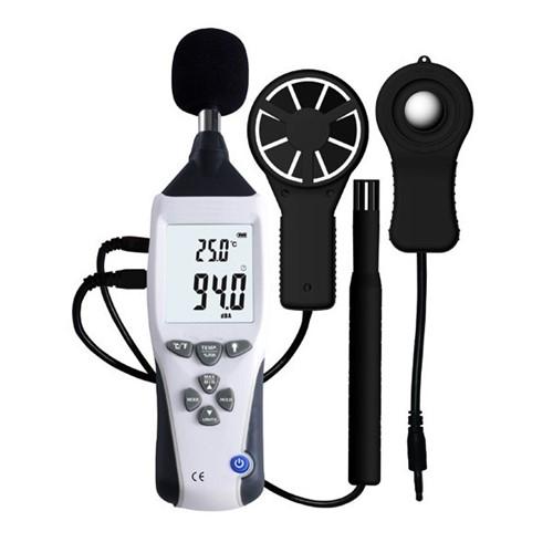 Termo-Higro-Decibelímetro-Luxímetro-Anemômetro Digital Mod. THDLA-500 + Certificado de Calibração com padrões rastreáveis ao INMETRO / RBC