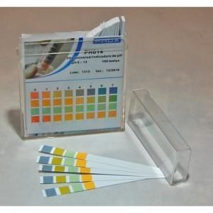 Papel Indicador de pH Universal - Tiras Especiais pH 0-14.0 (Caixa com 100 unidades)