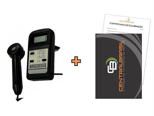 Medidor de Luz Ultra-Violeta UVA e UVB + Certificado de calibração com padrões rastreáveis ao INMETRO/RBC