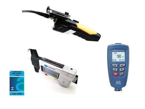 kIt para vistoria Paquímetro Digital Profundímetro (Sulcos de Pneu) + Boroscópio WF200 WIFI + Medidor de Espessura + CERTIFICADO RBC (ATENDE PORTARIA DETRAN SP Nº 68)