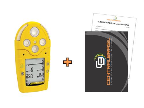 Detector de 5 Gases com PID + Certificado de Calibração com Padrões Rastreáveis ao INMETRO / RBC