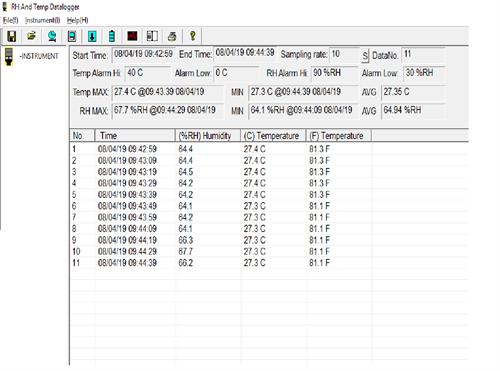 Datalogger De Temperatura E Umidade Com Conexão USB - CBDT-172