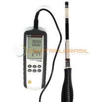 DT-3880 Termo-Anemômetro de Fio Quente com Registro de Dados e Software