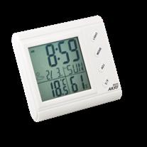 AK-27S Termo-Higrômetro Digital com Relógio e Alarme