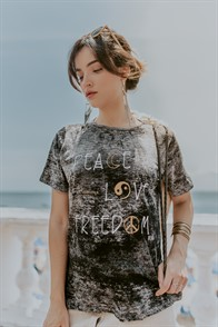 T-shirt Peace Love Freedom