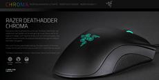Razer Mouse Gamer DeathAdder Chroma 5 botões 10.000 dpi Sensor 4G
