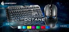 CoolerMaster Teclado Multimídia + Mouse Gamer Octane LED