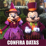 Ingresso Disney Mickey's Not So Scary Halloween Party - 1 Entrada - Escolha 1 data entre Agosto 20, 27, Setembro 2, 8, 10, 15, 17, 22 - Festa das 19h às 00h - ADULTO (10 anos ou +) - 2019