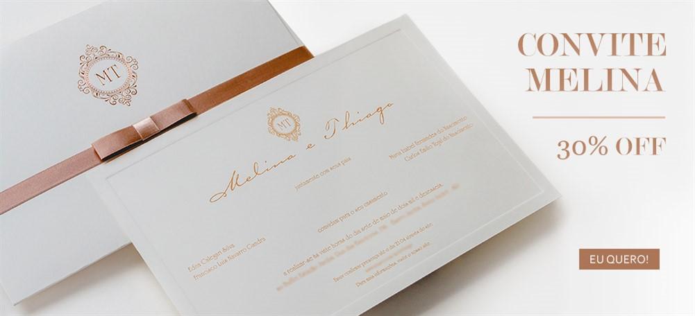 Convite de casamento em promoção - Melina