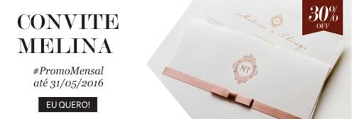 Promoção Maio- Convite Melina