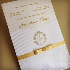 KARINA - Convite de Casamento - 20 x 20cm