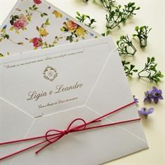 CASSIO - Convite de Casamento - Linha Soft - 24,8 x 17 cm