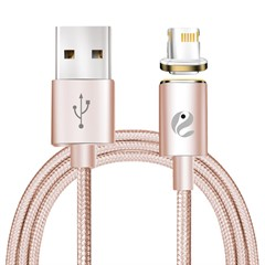 Cabo Magnético Lightning Hoco Rose Gold 120 cm, IPhone 5/5S/5C/6/6 Plus/6S/6s Plus