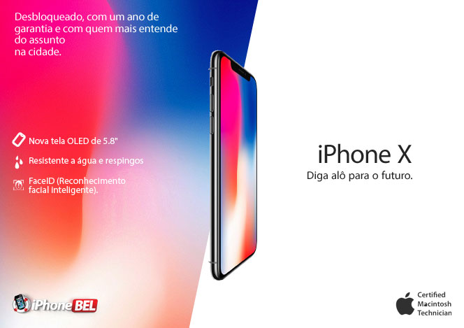 Iphone X - Diga alô para o futuro