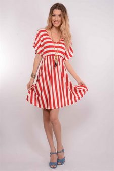 VESTIDO RED STRIPE