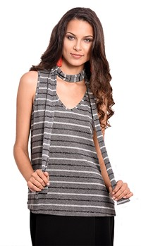 BLUSA GREY SHOCKER