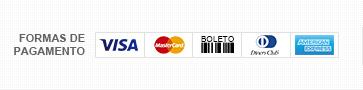 formas de Pagamento: Visa, Master Card, Boleto