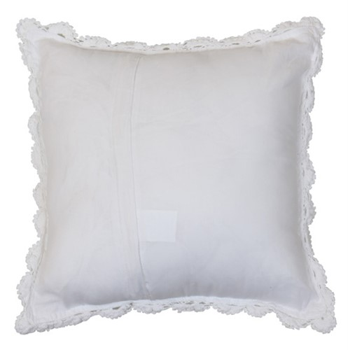 CAPA ALMOFADA CROCHÊ 40 x 40 - OFF WHITE
