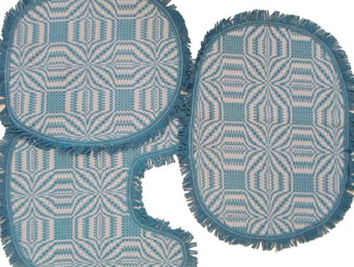 JOGO DE BANHEIRO - Azul Turquesa
