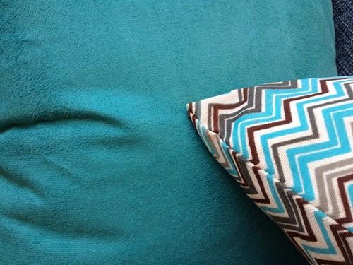 CAPA SUEDE 45 x 45 - Azul Tifany