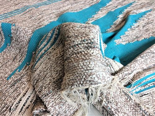 TAPETE GRANDE MALHA 140 x 140 - Turquesa