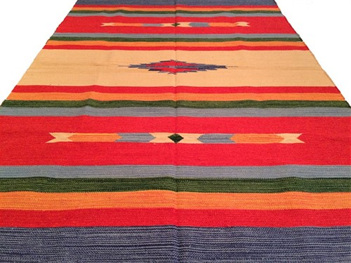 TAPETE KILIM INDIANO 200 x 300 - CORAL