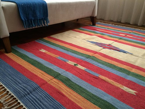 TAPETE KILIM INDIANO 140 x 200 - CORAL