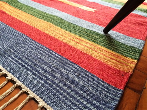 TAPETE KILIM INDIANO 100 x 140 - CORAL