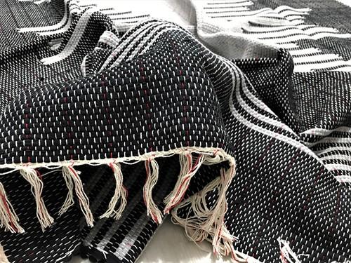 TAPETE GRANDE MALHA 140 x 180 - Preto e Cinza