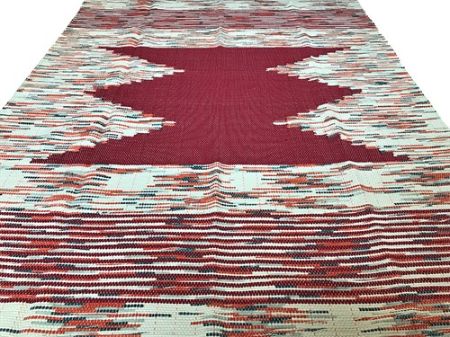 TAPETE GRANDE MALHA 140 x 190 - VERMELHO