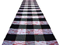 PASSADEIRA DE MALHA 290 cm - Xadrez Vermelha