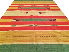 TAPETE KILIM INDIANO 200 x 300 - VERDE