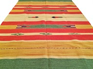 TAPETE KILIM INDIANO 140 x 200 - VERDE