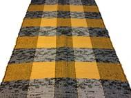 TAPETINHO DE MALHA 50 x 80 - Xadrez Amarelo