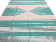 TAPETE GRANDE MALHA 140 x 190 - Azul Tifany Claro