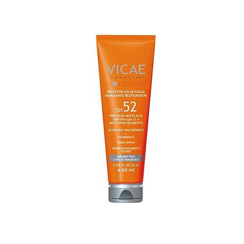 Vicae protetor solar com ácido hialurônico e vitamina E - fps 52 - 60 ml