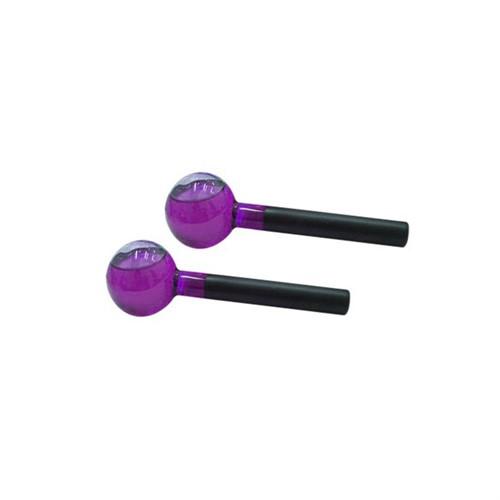 Esferas de vidro coloridas tamanho G para massagem cromoterápica - Globoterapia (o par)
