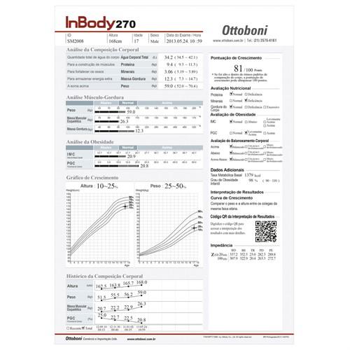 Bioimpedância InBody 270 - Analisador de Composição Corporal