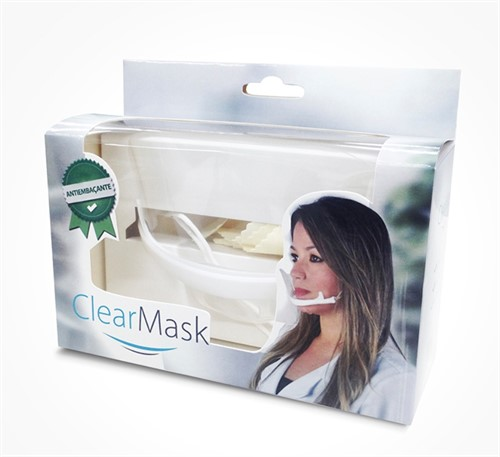 Máscara Higiênica Protetora Salivar Clear Mask Estek