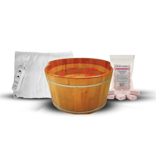 Spa para Pés com Sais de banho Efervescente e Lençol Térmico