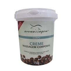 Creme Massagem Corporal - Óleo de Café Verde, Centella Asiática e Algas Marinhas - Essencial Cosméticos