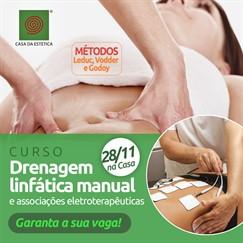 Dia 28/11 - Curso Drenagem linfática manual e associações eletroterapêuticas