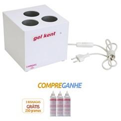 Gel Kent - Aquecedor de Gel Eletrônico a seco com 3 cavidades, ideal para Clínicas de Ultrassom, Estética, Fisioterapia