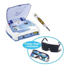 LASERPULSE com Caneta 830NM P/ Laserterapia e Laseracupuntura + Óculos de Proteção para Cliente e Profissional