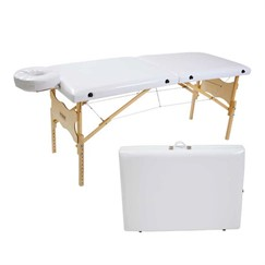 Maca Portátil Antares - Mesa de Massagem de Madeira c/ Altura Regulável